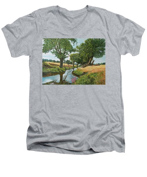 Weeping Willows At Beverley Brook Men's V-Neck T-Shirt