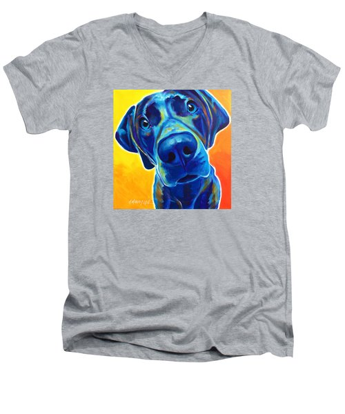 Weimaraner - Bentley Men's V-Neck T-Shirt
