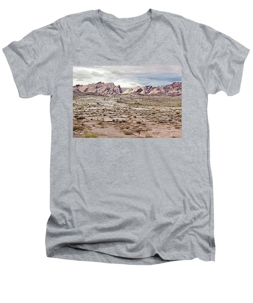 Men's V-Neck T-Shirt featuring the photograph Weird Rock Formation by Peter J Sucy