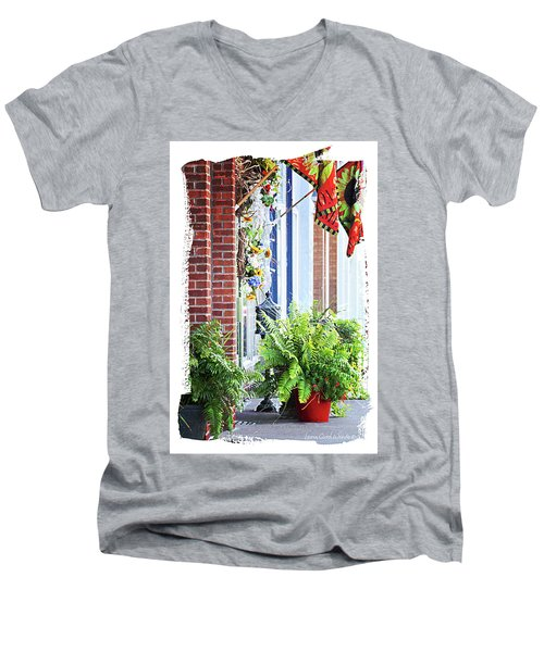 Welcome Men's V-Neck T-Shirt by Lena Wilhite