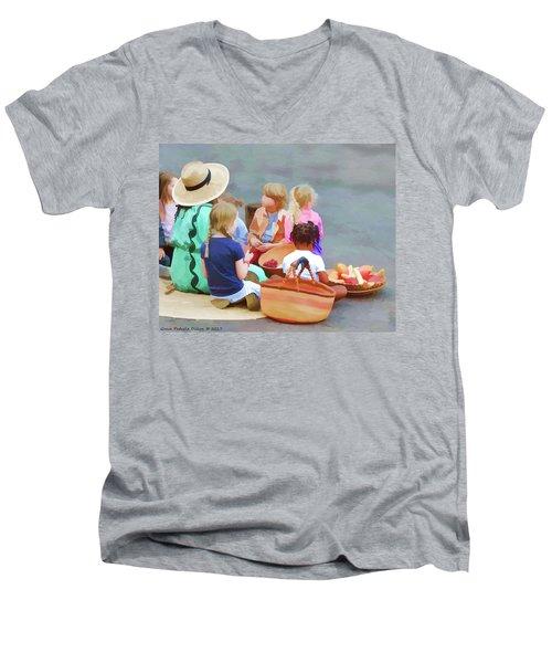 Welcome The Children Men's V-Neck T-Shirt