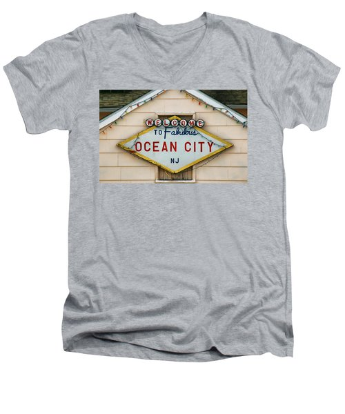Welcome To Fabulous Ocean City N J Men's V-Neck T-Shirt