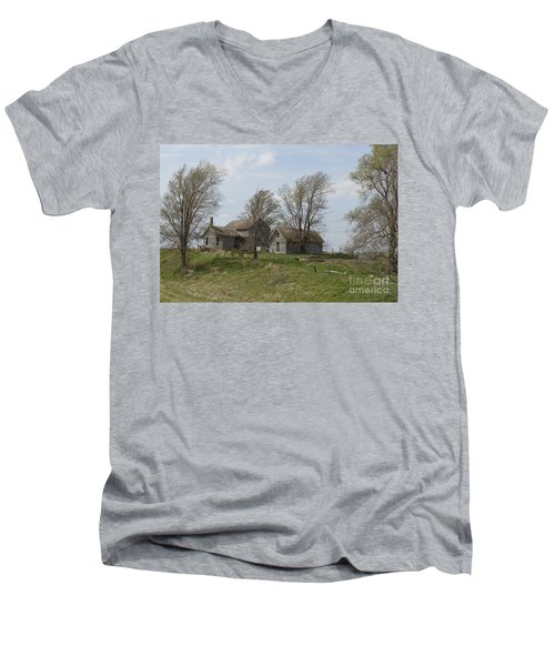Welcome To The Farm Men's V-Neck T-Shirt by Renie Rutten
