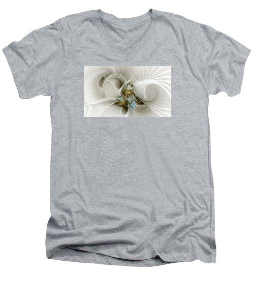 Welcome To The Second Floor-fractal Art Men's V-Neck T-Shirt
