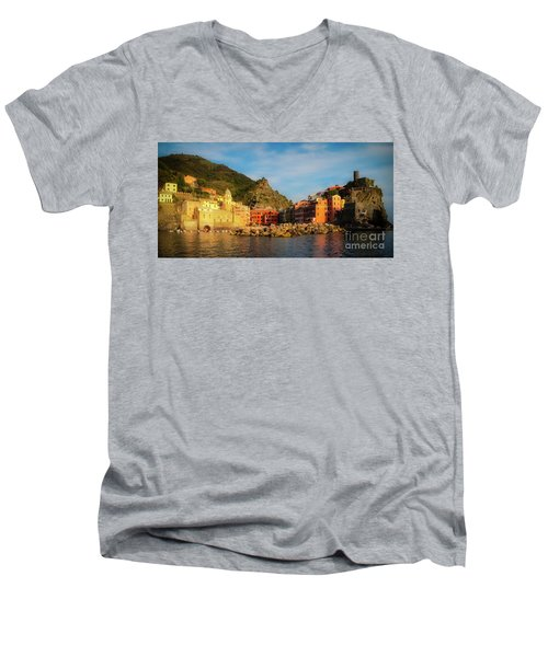 Welcome To Vernazza Men's V-Neck T-Shirt