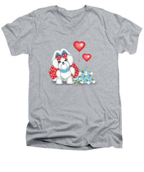 Welcome With Love  Men's V-Neck T-Shirt