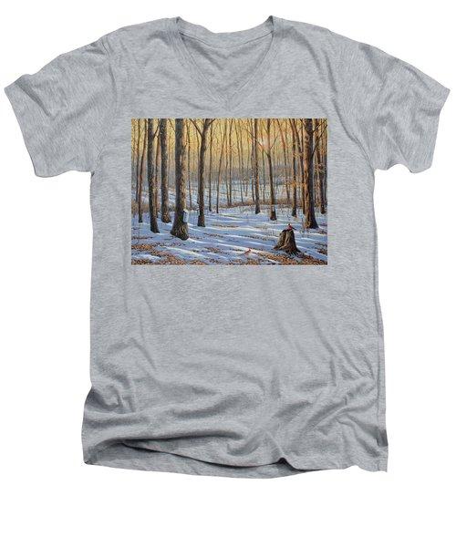 Welcoming The Sunrise Men's V-Neck T-Shirt