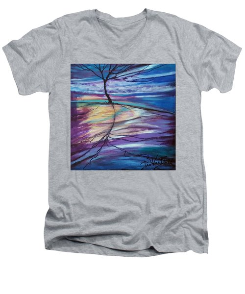 Well Rooted Men's V-Neck T-Shirt