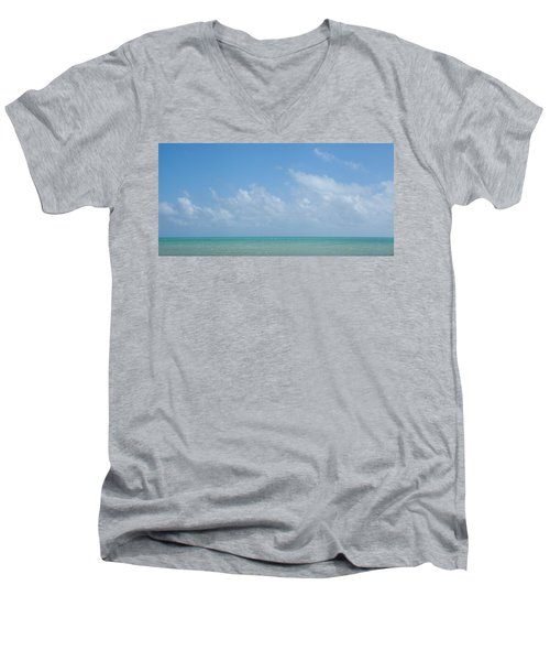 Men's V-Neck T-Shirt featuring the photograph We'll Wait For Summer by Yvette Van Teeffelen