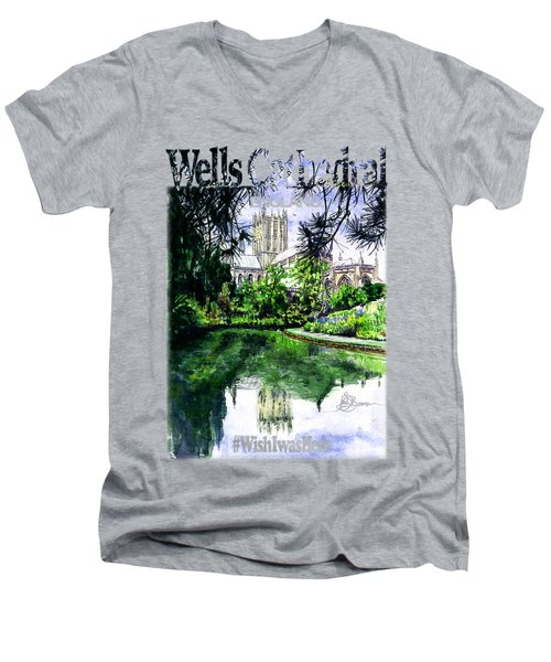 Wells Cathedral Shirt Men's V-Neck T-Shirt