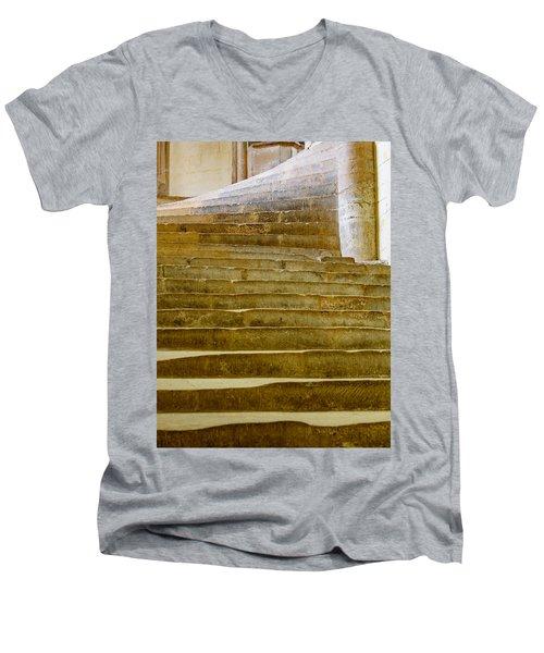 Wells Cathedral Steps Men's V-Neck T-Shirt