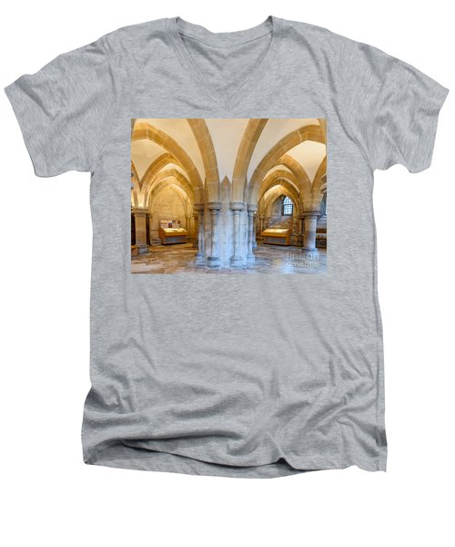 Wells Cathedral Undercroft Men's V-Neck T-Shirt by Colin Rayner