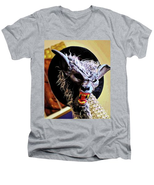 Werewolf Attack Men's V-Neck T-Shirt by Craig Wood