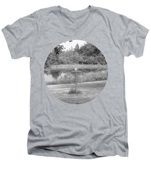 Wessel Pines Disc Golf Course Men's V-Neck T-Shirt