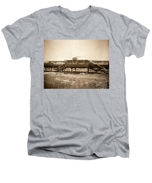 West 207th Street, 1906 Men's V-Neck T-Shirt by Cole Thompson