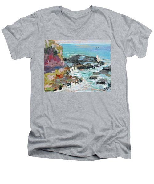 West Cliff Heat Men's V-Neck T-Shirt
