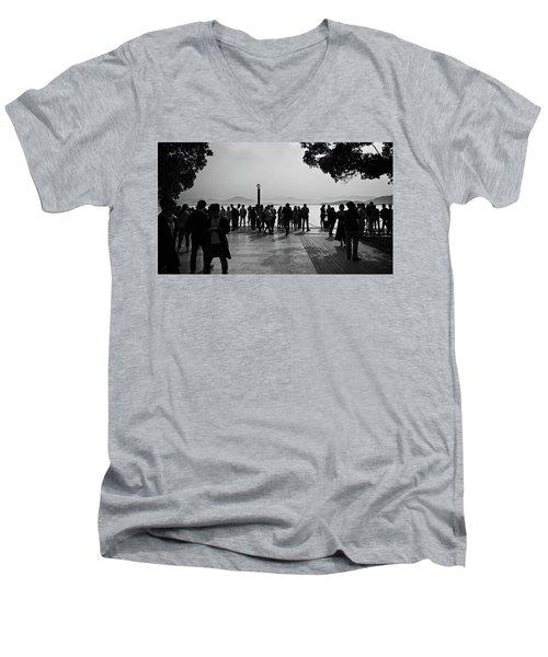 West Lake, Hangzhou Men's V-Neck T-Shirt