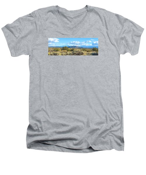 Men's V-Neck T-Shirt featuring the photograph West Of Taos by Brenda Pressnall