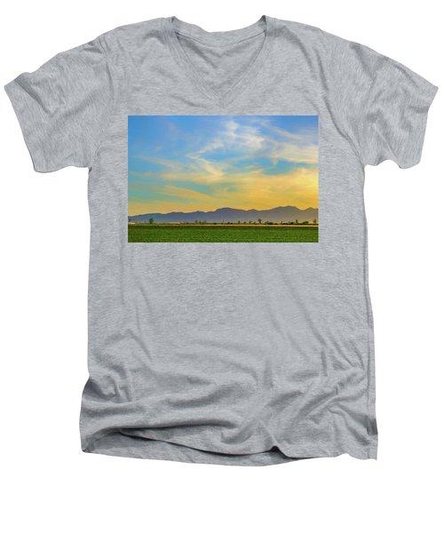 West Phoenix Sunset Digital Art Men's V-Neck T-Shirt