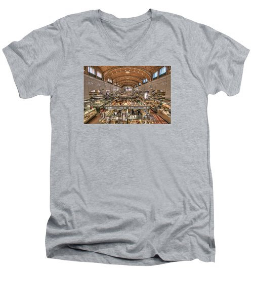 West Side Market Men's V-Neck T-Shirt by Brent Durken