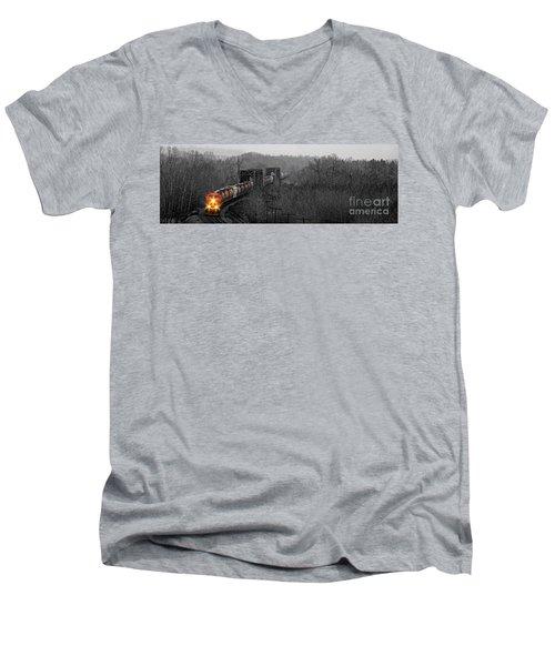 Westbound Grain Men's V-Neck T-Shirt by Brad Allen Fine Art
