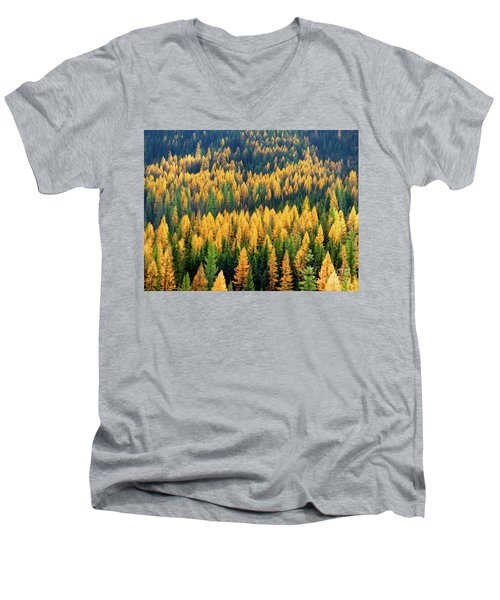Western Larch  Men's V-Neck T-Shirt