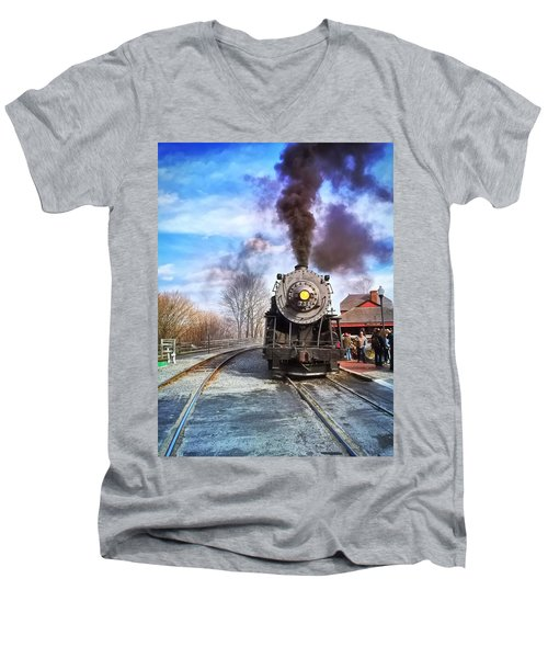 Western Maryland Steam Engine Men's V-Neck T-Shirt