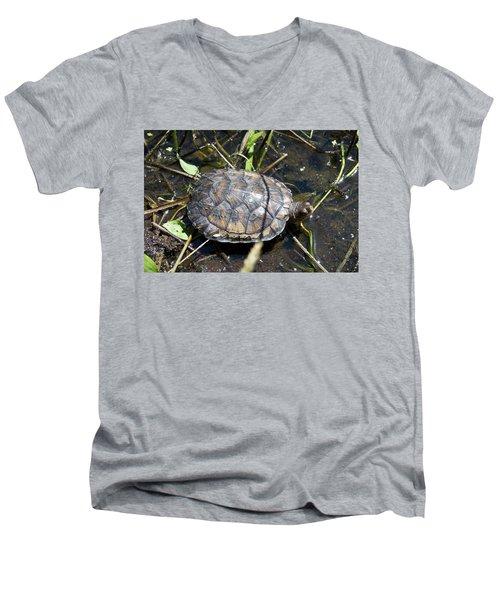 Western Pond Turtle, Actinemys Marmorata Men's V-Neck T-Shirt