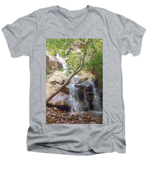 Western Side Of Etiwanda Falls Men's V-Neck T-Shirt