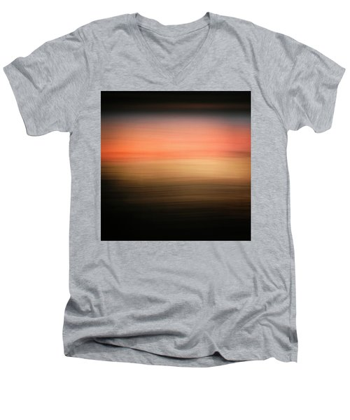 Men's V-Neck T-Shirt featuring the photograph Western Sun by Marilyn Hunt