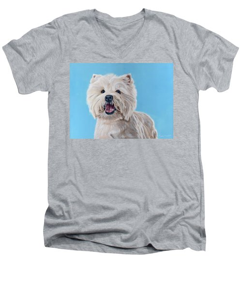 Westie Men's V-Neck T-Shirt