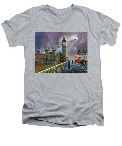 Westminster Bridge Men's V-Neck T-Shirt