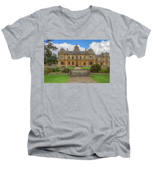 Men's V-Neck T-Shirt featuring the photograph Westonbirt School For Girls by Clare Bambers
