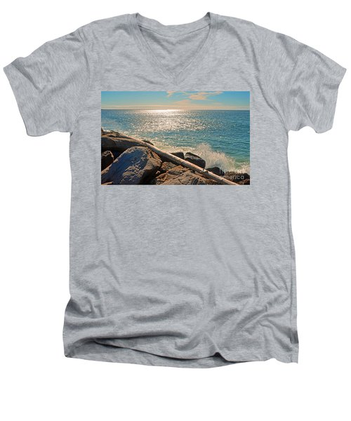 Westport Waves 2 Men's V-Neck T-Shirt