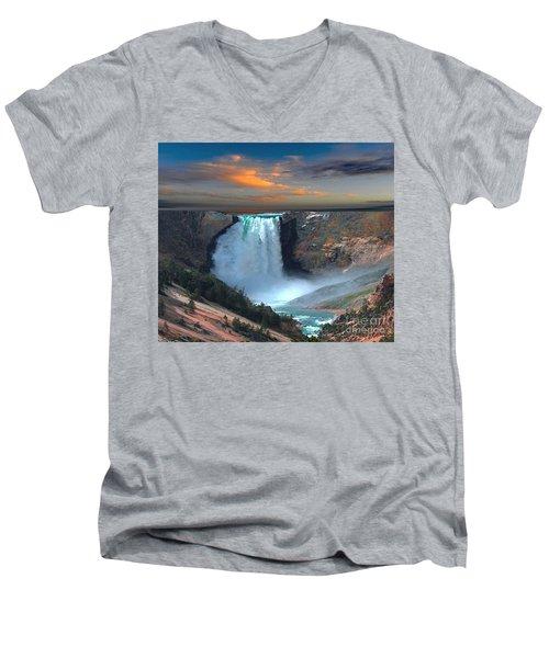 Wet Beauty Men's V-Neck T-Shirt by Rod Jellison