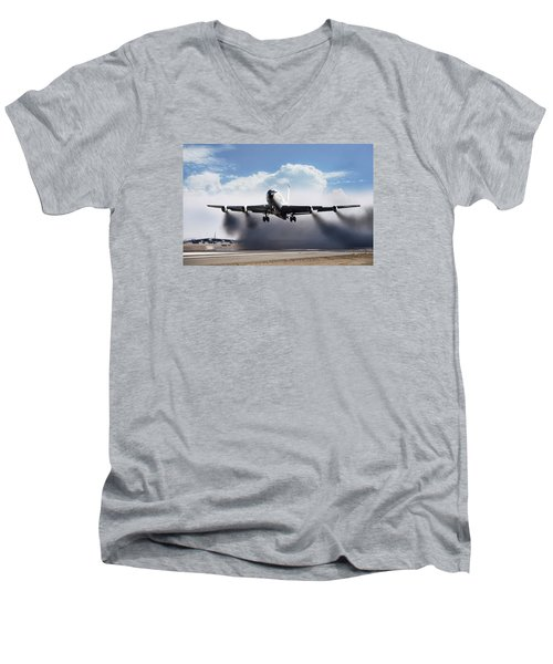 Wet Takeoff Kc-135 Men's V-Neck T-Shirt by Peter Chilelli