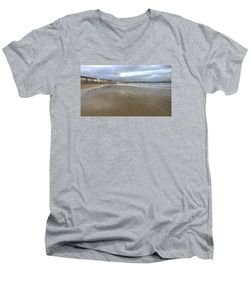 Men's V-Neck T-Shirt featuring the photograph Weymouth Morning by Anne Kotan