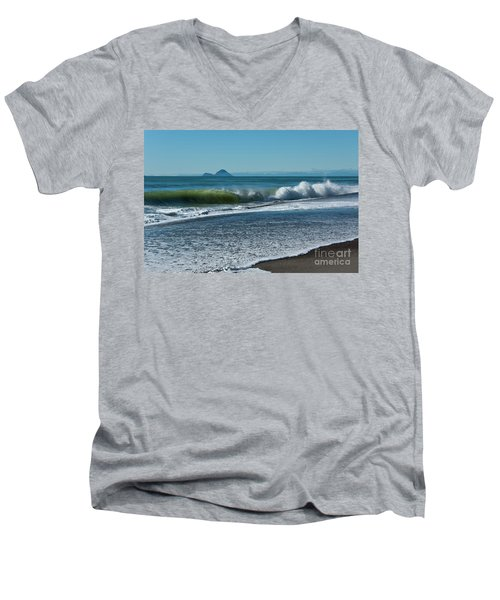 Men's V-Neck T-Shirt featuring the photograph Whale Island by Werner Padarin