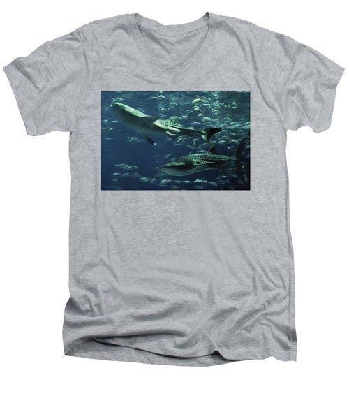 Whale Shark Couple Men's V-Neck T-Shirt