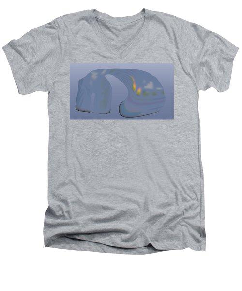 Whalescape Men's V-Neck T-Shirt