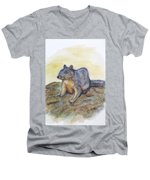 What Are You Looking At? Men's V-Neck T-Shirt by Clyde J Kell
