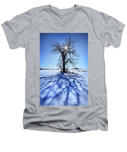 Men's V-Neck T-Shirt featuring the photograph What I Am, What I Was, What I Will Be by Phil Koch