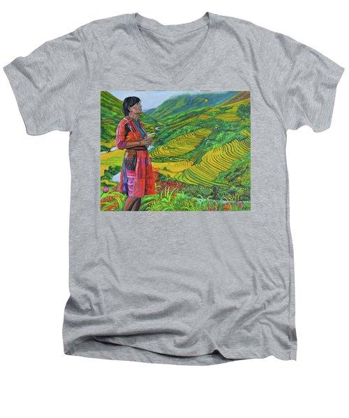 What If Men's V-Neck T-Shirt