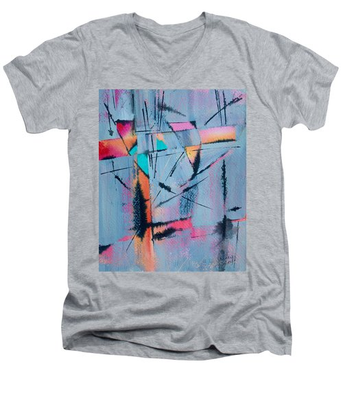 What Lies Beneath Men's V-Neck T-Shirt by Nancy Jolley