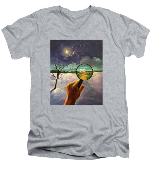What We Choose To See Men's V-Neck T-Shirt by Randy Burns