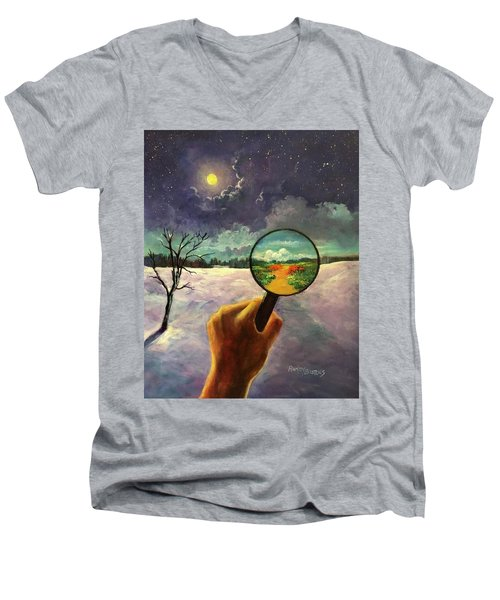 What We Choose To See Men's V-Neck T-Shirt