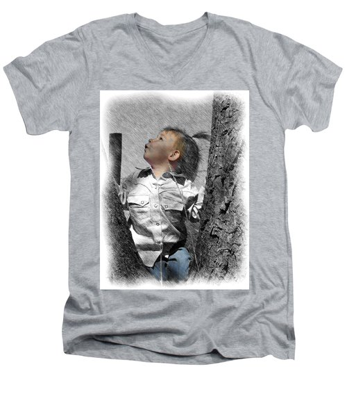 What's Up There Men's V-Neck T-Shirt