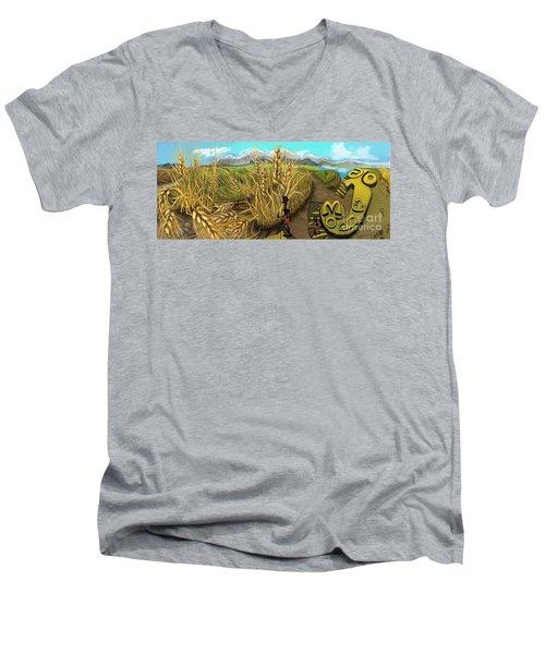 Wheat Field Day Dreaming Men's V-Neck T-Shirt