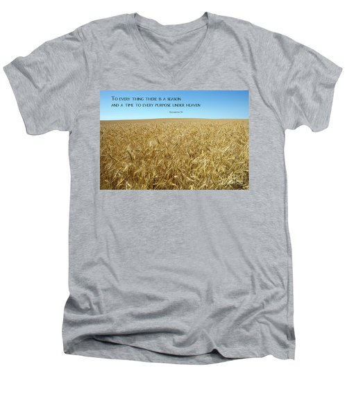 Wheat Field Harvest Season Men's V-Neck T-Shirt