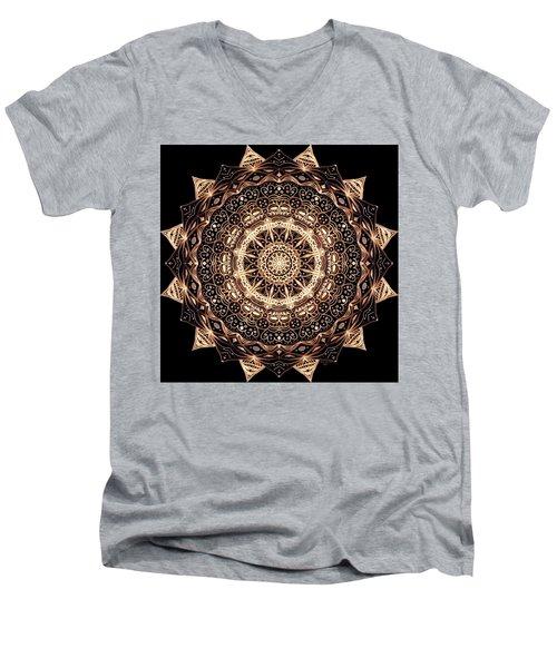 Wheel Of Life Mandala Men's V-Neck T-Shirt